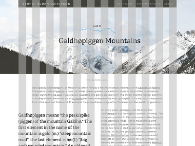 Blog detail page ui ux typography typo blog detail page mountain sweden grid design sketch