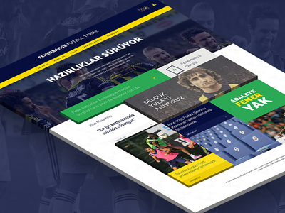 "Fenerbahce SK Concept Design ""Football Category"" concept fenerbahce sport ui design web yellow darkblue soccer hover"