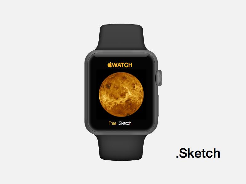 Apple Watch apple watch sketchapp mockup iwatch black space grey