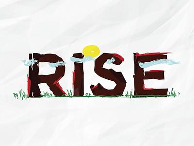 Rise Typograghy efabrika rise typography typo calendar sun cloud brand paper