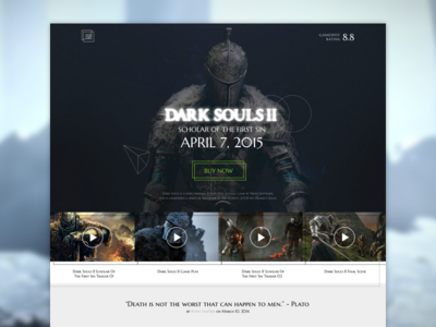 Dark soul II dark soul web site abstract game workout ui ux