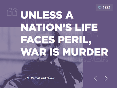 Ataturk Quote typography sketchapp freebies love clean widget quote ataturk