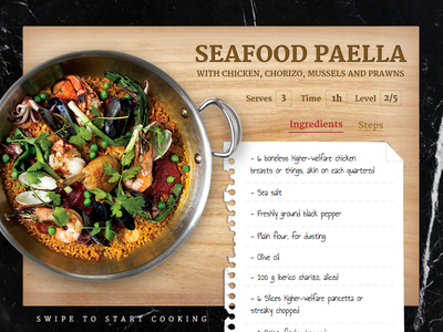 Seafood Paella menu restaurant food recipe seafood widget