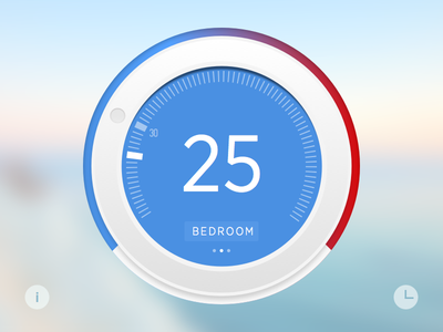 Thermostat Widget home thermostat widget ui
