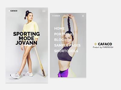 Cafaco Sketch Template Mobile mobile responsive bjorn sketch work portfolio fashion wordpress theme web