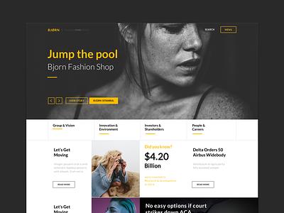 Bjorn Multipurpose Sketch Theme mobile responsive bjorn sketch work portfolio fashion wordpress theme web