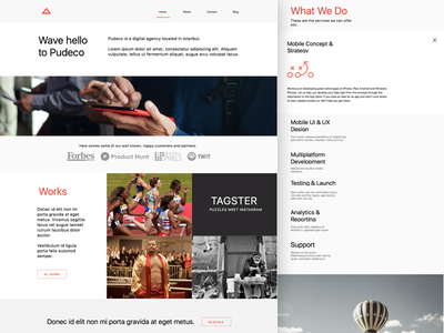 Agency Website works strategy web ux digital agency design onpage ui interface