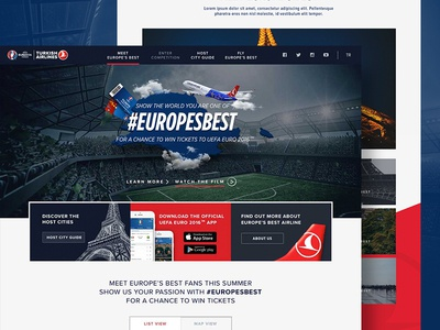 Meet Europe's Best ui ux web sport competition football euro2016 europe responsive