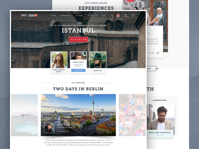 Turkish Airlines Blog design ux ui website airlines turkish blog