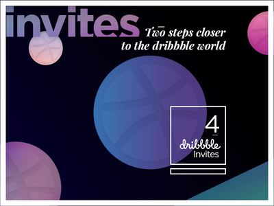 Dribbble Invites ticket freebie shots steps galaxy world invites dribbble