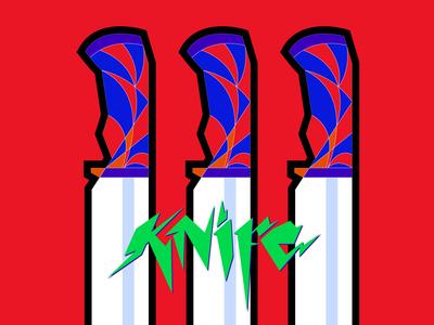 Knife lettering and illustration