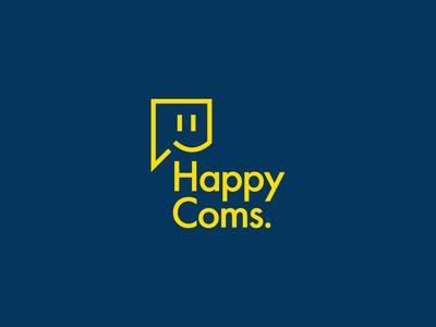 Happy Coms Logo