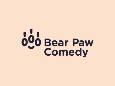 Bear Paw Comedy Logo