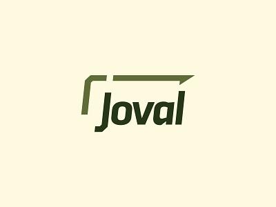 Joval - Industrial Construction Company retro bold strong lines forward arrow sharp manufacturing industrial green logotype mark identity branding logo