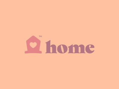 Home warm pattern serif roof family love heart house home mark identity branding logo