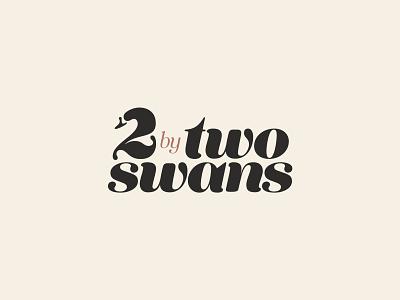 Two swans bird tenez animal beak neck goose 2 two swan logotype mark identity branding logo