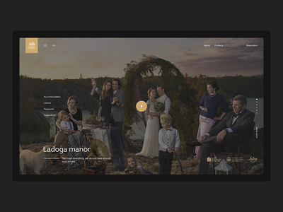 Ladoga Manor ladoga interface estate clean website web ux ui promo minimal fullscreen desktop