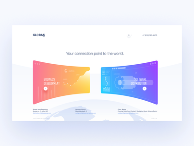 Globas fullscreen web estate ecommerce typography design promo illustration minimal ux ui clean