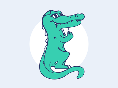 Crocodile like like a boss promo web green clean minimal art illustration art crocodile croc creature animal alligator