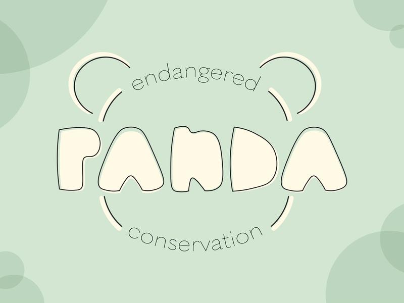 Pandy McPandyface conservation panda endangered logo dailylogochallenge