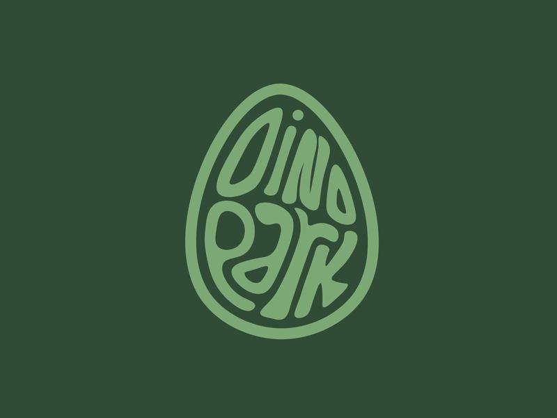 Diny McDinoface dino park dinosaur amusement park logo dailylogochallenge