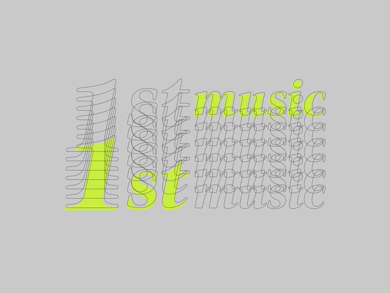 Musicy McMusicface 1st music first music record label logo dailylogochallenge