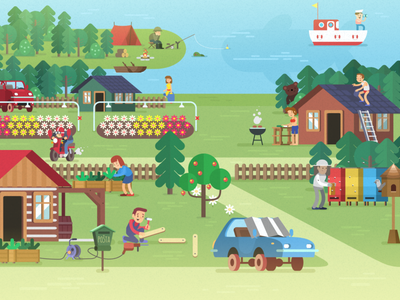 Hobby - Seznam.cz illustration vector seznam xara flat