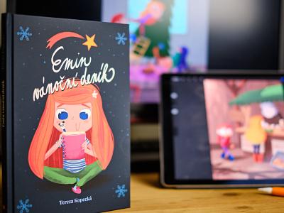Emin vánoční deník christmas czech procreate ipad pro illustrated childrens book