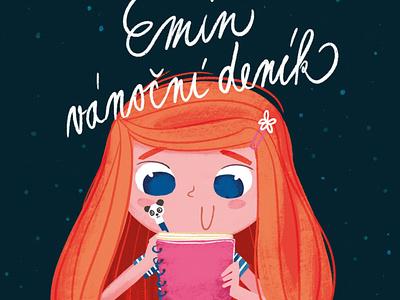 Book cover - Emin vánoční deník applepencil procreate christmas girl artwork illustration book cover
