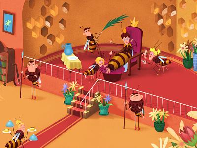 A bug hotel - book illustration albatrosmedia bughotel czechbook