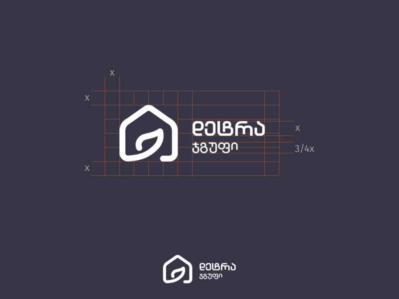 Logo Grid brandbook tsverava grid logo grid home house leaf mark typography concept design monogram logo