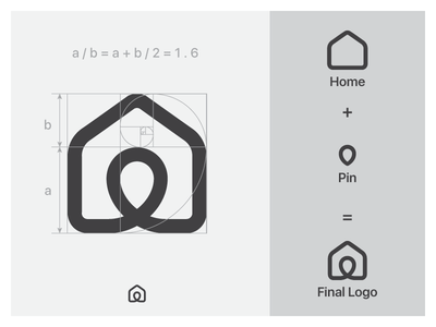 Home georgia branding vector ui logo design golden ration tsverava monogram symbol mark logo location pin house home grid design concept company brandbook