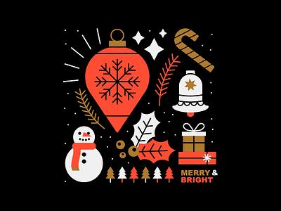Holidays winter xmas christmas design illustration