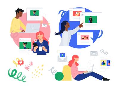 Integration Launch Illustrations