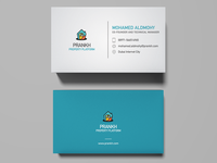 Prankh Business Card Design