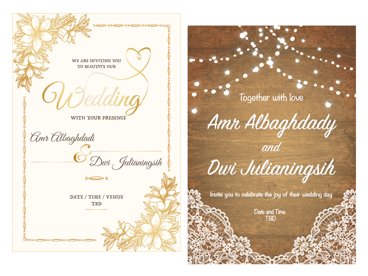 Free Wedding Cards Templates By Kj On Dribbble