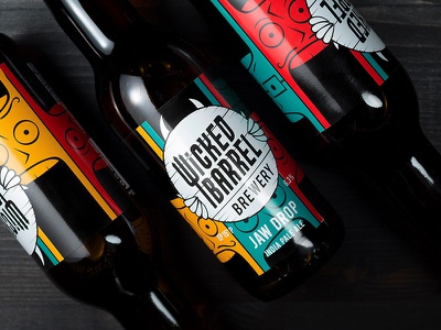 Jaw Drop IPA by Wicked Barrel jawdrop identity graphic design design packaging