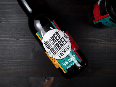 Jaw Drop IPA by Wicked Barrel jawdrop identity design packaging