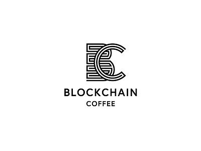 Blockchain Coffee blockchain coffee identity branding logo design logo