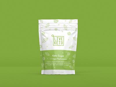 Live Keto ketogenic logo logo design keto identity branding packaging design packaging