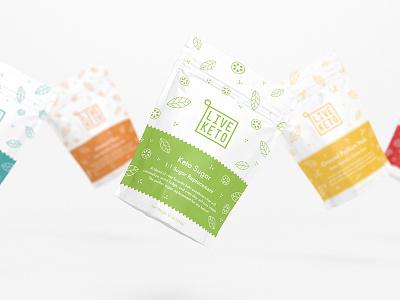Live Keto ketogenic keto logo design logo identity branding packaging design packaging