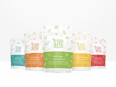 Live Keto ketogenic keto logo branding logo design packaging design packaging