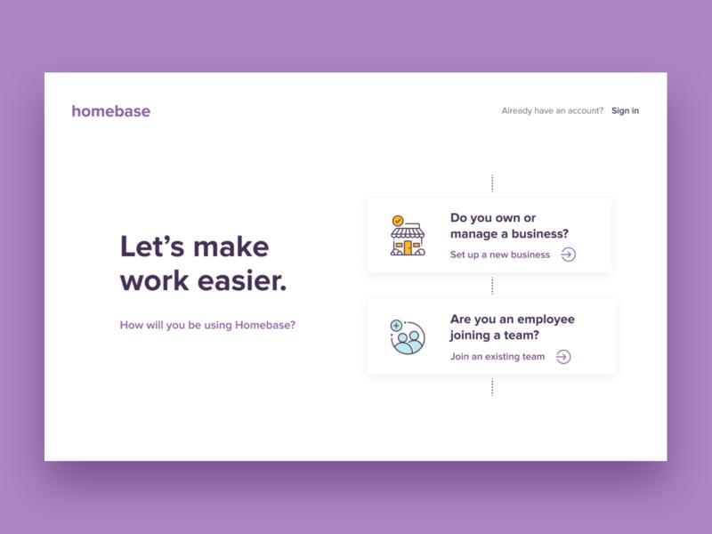 Let's get started! sign in login startups product design ilustration app webdesign logo branding icons website ux ui design