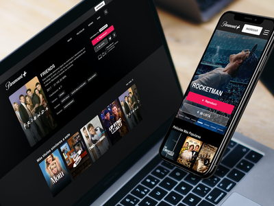 Paramount+ product design series movies streaming startups webdesign logo branding website ux ui design