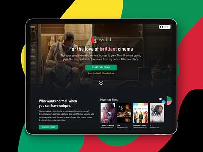 Eyelet independent uidesign ui ux movie app platform streaming service streaming movies movie