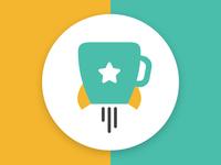 Simple mug logo.