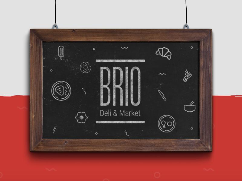 Brio logo restaurant white red identity branding food logo