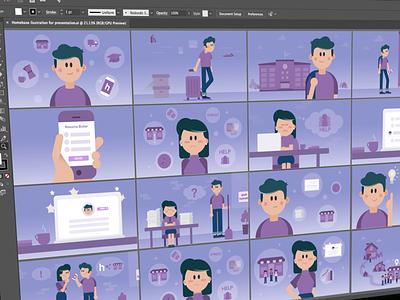 Storyboard Illustrations storyboard slides presentation design graphics vector ilustration illustration