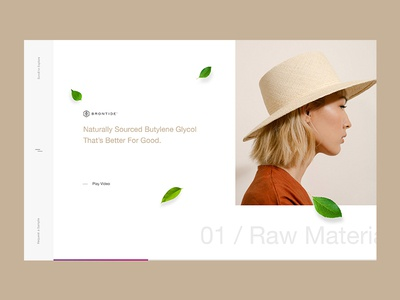 Brontide™ natural ui ux parallax web gl 3d horizontal layout animation