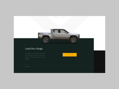 Rivian Automotive motion ui ux moke-up ev electric rivian tech start-up automotive